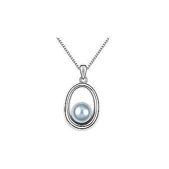 Beautiful Pearl Style Pendant Necklace Silver Jewellery Gift BG1612