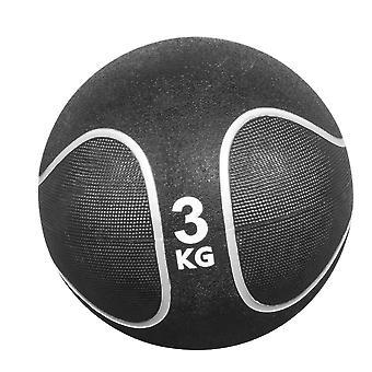 Medizinball Schwarz/Silber 3 KG