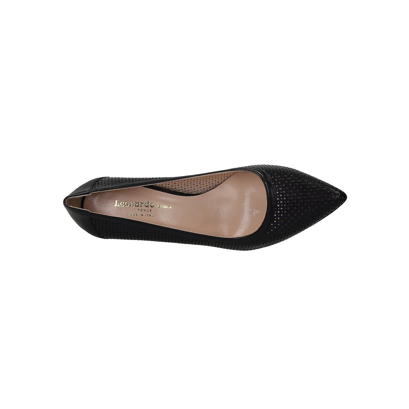 blue Dark calf stiletto pumps heels leather perforated with vwwxETqdr