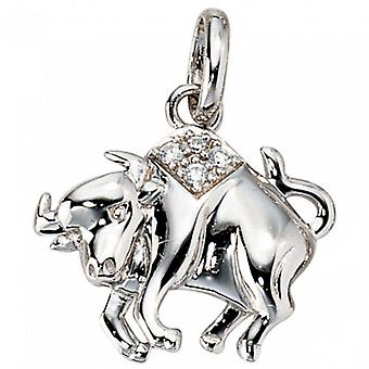 Trailer zodiac sign Taurus Silver 925 sterling silver 3D