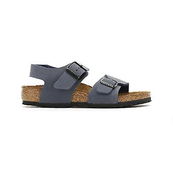 Birkenstock Kids Navy New York Birko-Flor Sandals