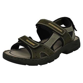 Mens Rouen Casual vastgebonden sandalen 26157-54 - groene Combi synthetische - UK maat 8 - EU maat 42 - US maat 9