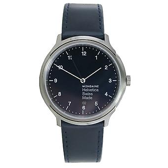 Mondaine ladies watch Helvetica No1 wristwatch MH1. R2240. LD leather