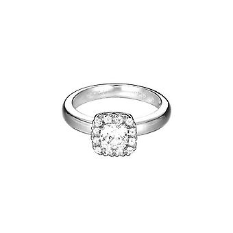 ESPRIT women's ring stainless steel Silver Solitaire cubic zirconia ESRG92359B1