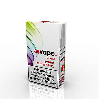 88 Vape E-Liquid Nicotine 11mg Sweet Strawberry 10ML