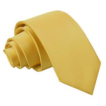 Plaine de l'or Satin régulier cravate pour les garçons