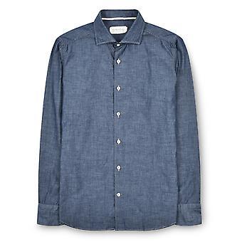 Fabio Giovanni Cammino Shirt - Mens Italian Casual Denim Shirt - Long Sleeve