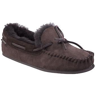 Cotswold Womens Stanway Sheepskin Moccasin Slipper