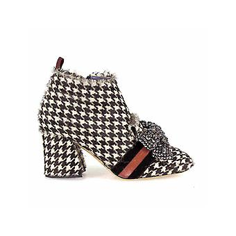 G DI G HOUNDSTOOTH AND BOW ANKLE BOOT