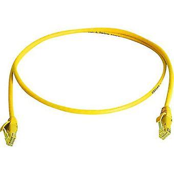Telegärtner RJ45 Networks Cable CAT 6 U/UTP 25 m Yellow Flame-retardant, Halogen-free
