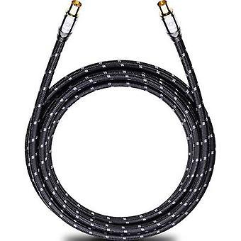 Antenner, lör-kabel [1 x Belling-Lee/IEC uttag 75Ω - 1 x Belling-Lee/IEC plug 75Ω] 1.70 m 125 dB guldpläterade kontakter, med ärm svart-grå Oehlbach XXL®