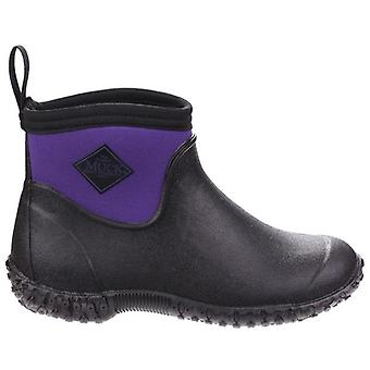 Muck Boots Muckster II Black and Purple Ankle Boots
