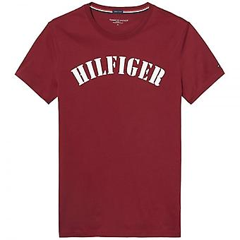 Tommy Hilfiger Organic Cotton Short Sleeved Crew Neck T-Shirt, Red, Small
