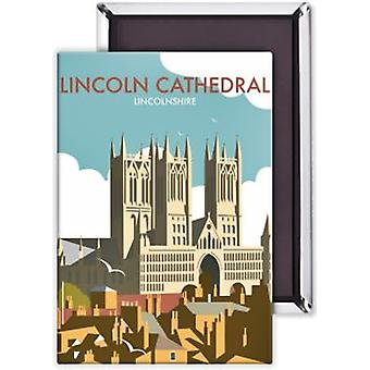 Lincoln Cathedral Steel Fridge Magnet