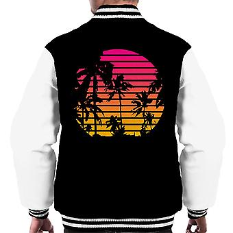 Tropical Sunset Palm träd mäns Varsity jacka