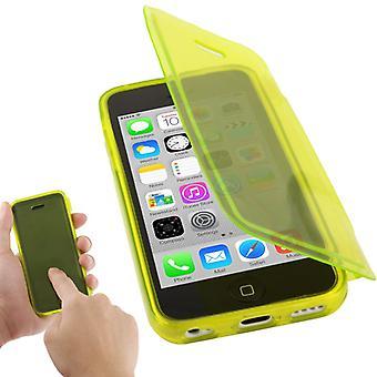 Handyhülle Flip Quer für Handy iPhone 5c gelb