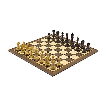 The Leningrad Sheesham and Walnut Chess Set