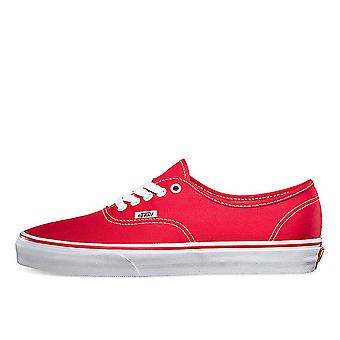 Vans Red Authentic Canvas Trainers - Vn0a3-ee3red