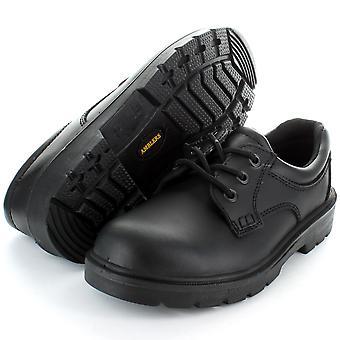 Amblers in acciaio FS41 antinfortunistica colore nero acciaio Toe Cap pelle lavoro scarpa nero