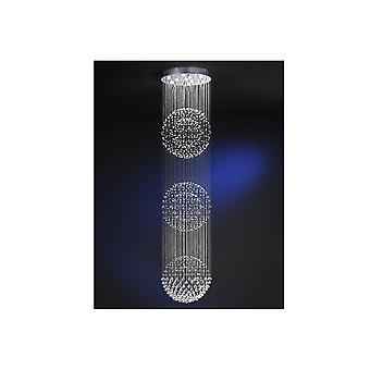 Schuller Modern Chrome Crystal LED Living Room Ceiling 10 Light