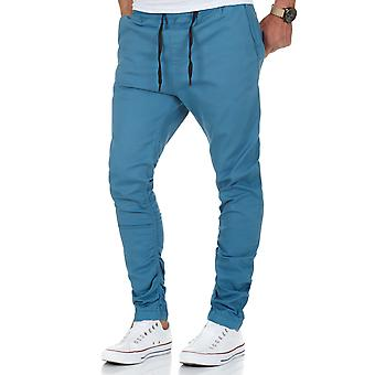 L.A.B 1928 men's Chino Jogger pants Indigo