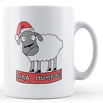Baa Humbug Christmas sau - trykt krus