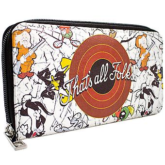 Looney Tunes That's All Folks! Bugs & Daffy Coin & Card Clutch Purse