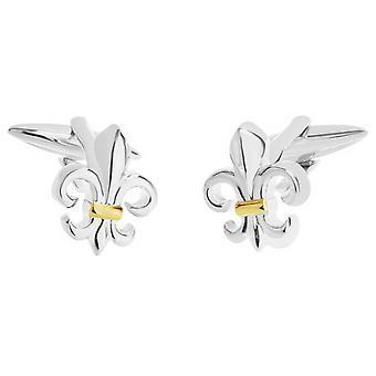 Zennor Fleur De Lis Cufflinks - Silver/Gold