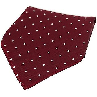 David Van Hagen Pin Dot Silk Pocket Square - Wine/White