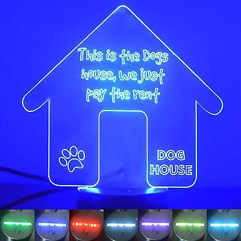 Dog House Kennel Rent Colour Changing LED Acrylic Light