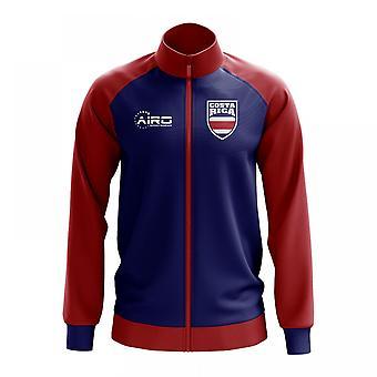 Costa Rica conceito futebol Track Jacket (azul)