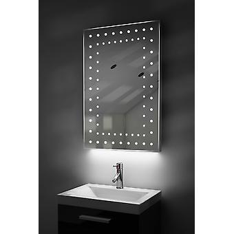 Omgivande ultratunn LED badrum spegel med Demister Pad & Sensor K43