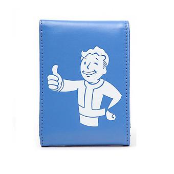 Fallout 4 Wallet PS4 Xbox Vault Boy Approves Official New Blue Bifold