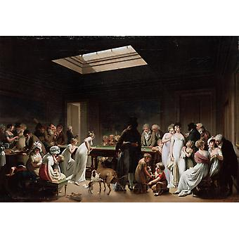 A Game of Billiards,Louis-Leopold Boilly,50x40cm
