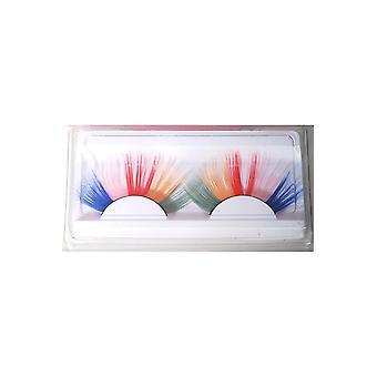Make up and eyelashes  Multicolor eyelashes