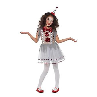 Vintage Clown Circus Girl Costume, Halloween Fancy Dress, Small Age 4-6
