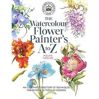 Kew - A del pintor acuarela flor a la Z - un Director ilustrado