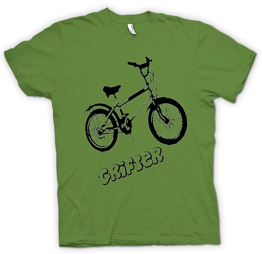 Hommes T-shirt - Grifter - Old Skool Retro Bike