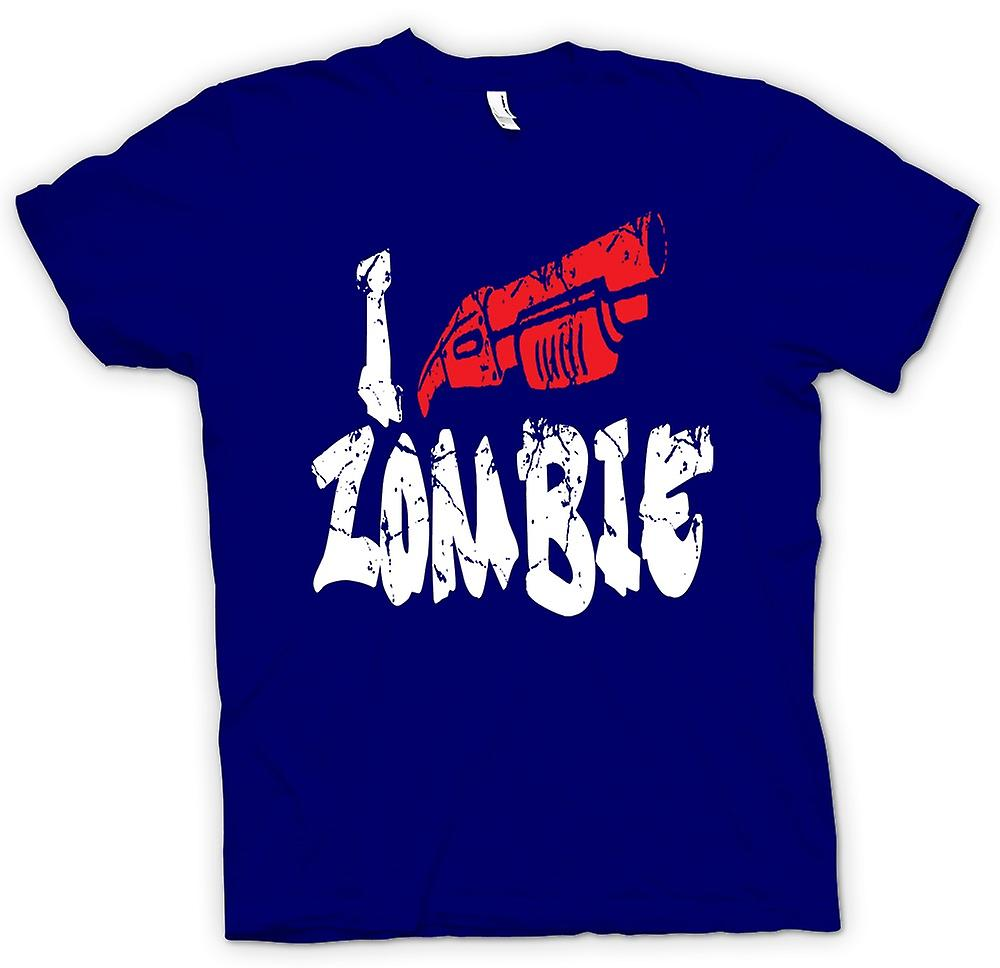 Mens T-shirt - I Shoot Zombies - Funny