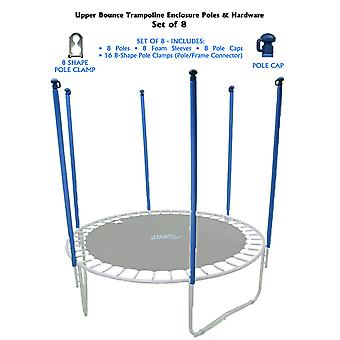 Upper Bounce Trampoline Enclosure Poles & Hardware Set of 8 (Net Sold Separately)
