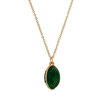 TOC Green Faberge-Style Egg Pendant Necklace 18