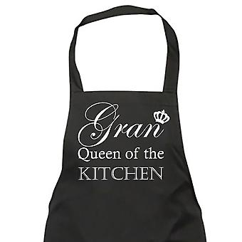 Gran reina de la cocina negro delantal