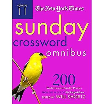 Le New York Times dimanche Crossword Omnibus Volume 11:200 dimanche célèbre casse-tête dans les Pages du New York Times