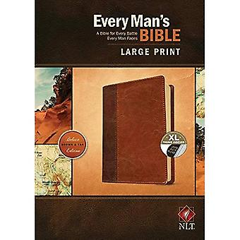 Every Man's Bible NLT, Large Print, Tutone