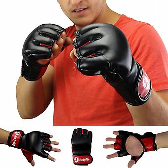 BodyRip Leather MMA Boxing Punching Fight Gloves