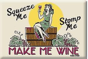 Make Me Wine funny steel fridge magnet