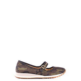 Car Shoe Multicolor Fabric Flats