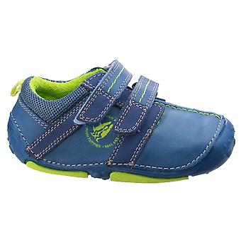 Hush Puppies Boys Eddy Pre-walkers Blue F Fitting