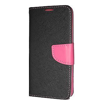 Samsung Galaxy A70 (A705) Plånboksfodral Fancy Case Svart-Rosa