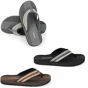 Plage urbaine Mens Toe Post Beach Flip Flops sandales